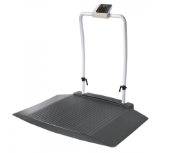 Healthweigh® Wheelchair Scale – With 2 Wide Ramps and Handrail